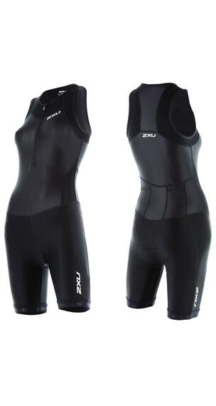 2XU X-Vent Abbigliamento triathlon Donne Front Zip nero